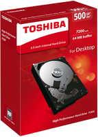 HDD 500GB, Toshiba, 7200rpm, 64MB Cache, SATAIII BOX [HDWD105EZSTA]